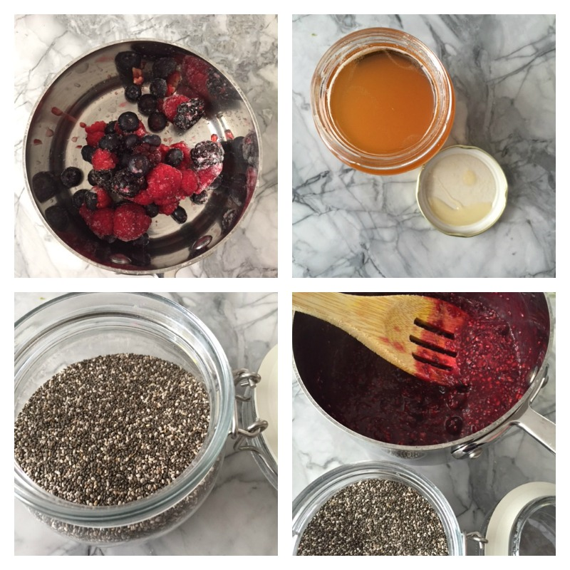 chia seed collage