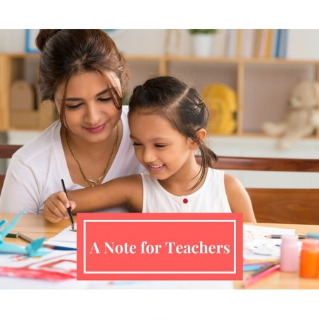 A Note For Teachers