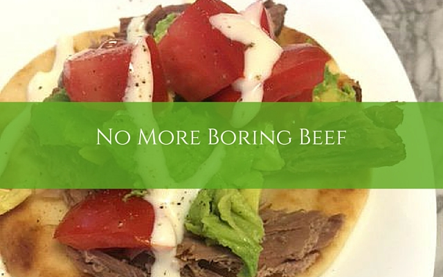 No More Boring Beef