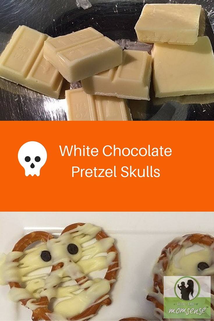 White ChocolatePretzel Skulls