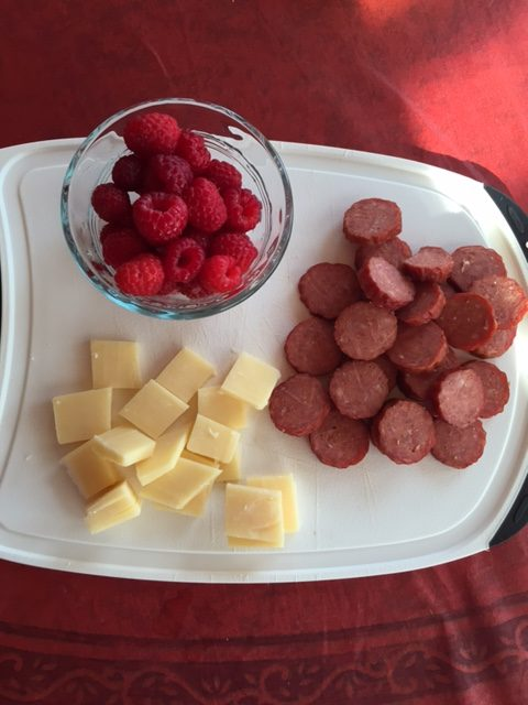 PEI cheese, raspberries and pepperoni