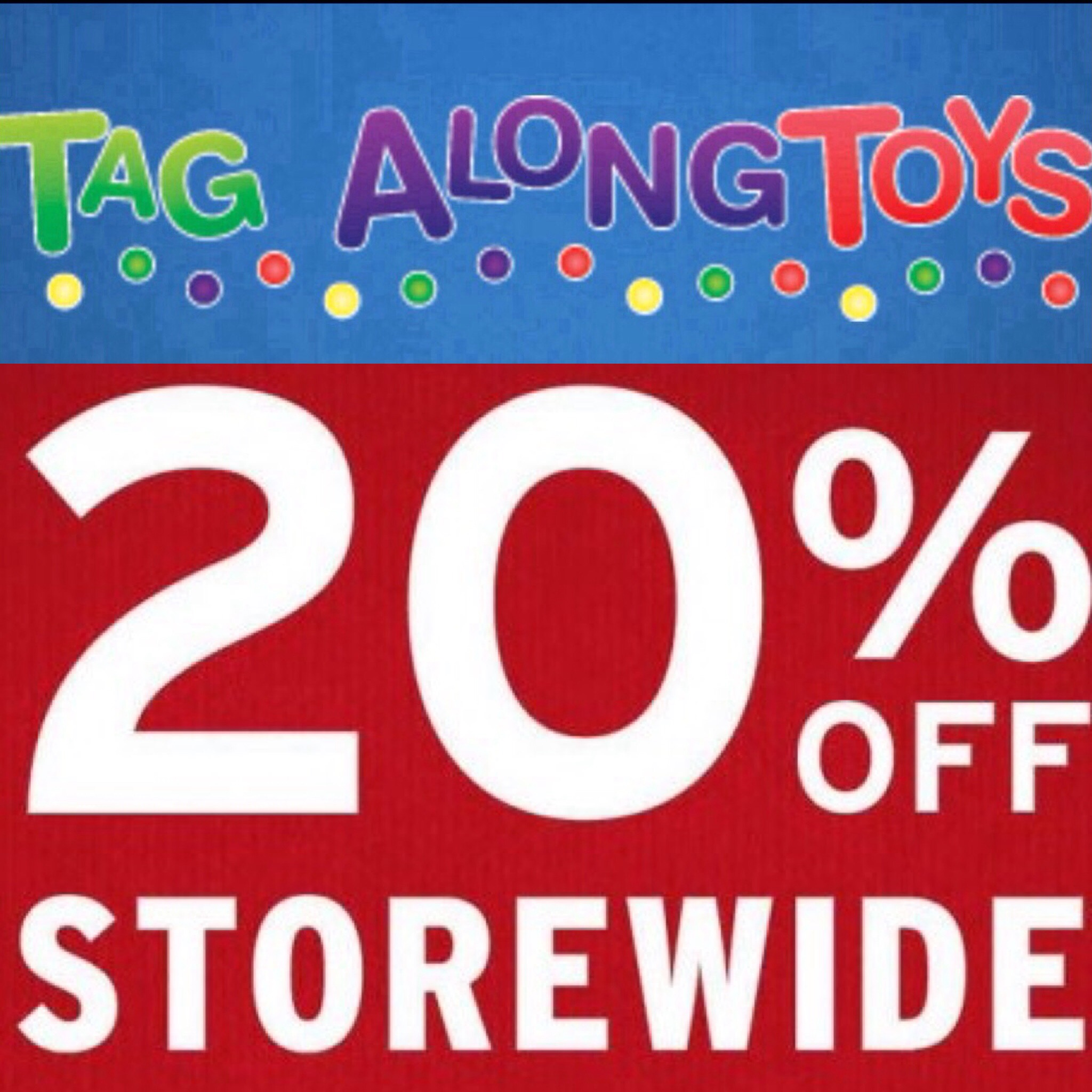 tag along toys sale