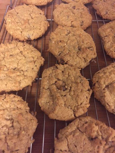 peanut butter oatmeal chocolate cookies