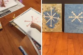 Winter Art – Painting Canvases