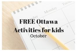 FREE Activities to do with the kids in Ottawa in October