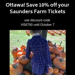 Save 10% off your Saunders Farm Tickets
